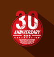 30 Years Anniversary Celebration Design vector image vector image