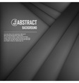 Abstract background of black origami paper vector image vector image