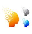 Abstract brain logo or alzheimer symbol vector image