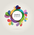 abstract color circle vector image