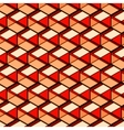 Abstract repetition geometric orange beige red vector image