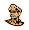 american general mascot vector image vector image