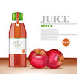 apple juice bottle product vector image vector image