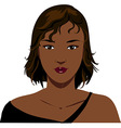 Attractive black woman face vector image