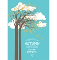 Autumn trees and leaves vector image vector image