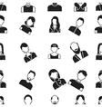 Avatar pattern icons in black style Big vector image vector image