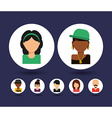 avatars people vector image vector image