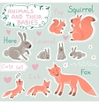 Baby and Mommy Animal Set vector image