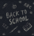 back to school holiday background childish vector image