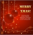 Background with Christmas balls and golden stars vector image vector image