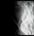 background with white smoke isolated on a black vector image