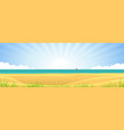 beach banner vector image vector image