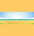 beach banner vector image vector image