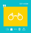 binoculars symbol icon vector image vector image