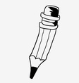 black and white pencil vector image vector image