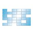 blue screens vector image vector image