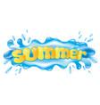 blue splash of water vector image vector image