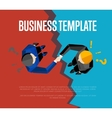 Business template Top view partners handshaking vector image