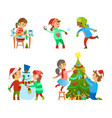 christmas holidays fun evergreen tree decoration vector image vector image