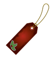 christmas holly cartoon gift tag vector image vector image