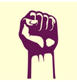 clenched fist held high vector image vector image