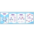 clinical trials brochure template vector image vector image
