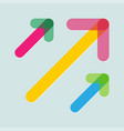 colorful arrows in trendy flat style with vector image vector image