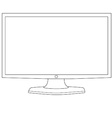 Computer monitor outline vector image