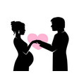 couple in love is waiting for a child vector image