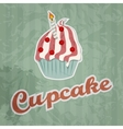cupcake retro background vector image