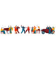 dancing people in retro style gangster party vector image
