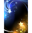 design with contrasting stars vector image vector image