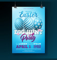 Easter party flyer with