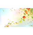 Falling autumn leaves on bright background vector image