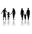 family child silhouette vector image vector image