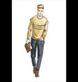 fashion man fashion man with vector image vector image