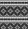 Folk art black seamless pattern on white vector image vector image