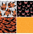 Happy Halloween set of four seamless patterns Bats vector image