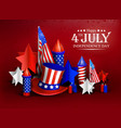 independence day - luxury background 4th vector image vector image