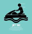 Jet Ski Sport Sign vector image vector image