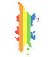 lgbt spectrum dot phuket map vector image