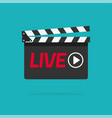 live streaming icon concept flat cartoon vector image