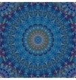 Mandala Pattern Blue vibration vector image vector image