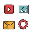 media player flat isolated icon vector image vector image