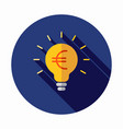 money idea icon euro icon vector image