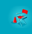 movie director chair vector image
