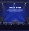 music band concert at big stage with spotlights vector image vector image