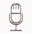 people shape microphone Icon vector image vector image