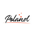 poland country typography word text for logo icon vector image vector image