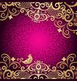 purple vintage frame vector image